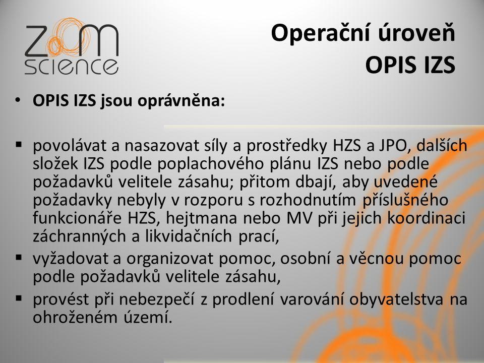 Operační úroveň OPIS IZS
