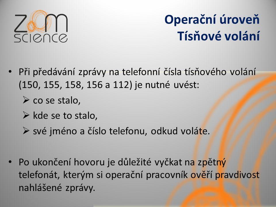 Operační úroveň Tísňové volání