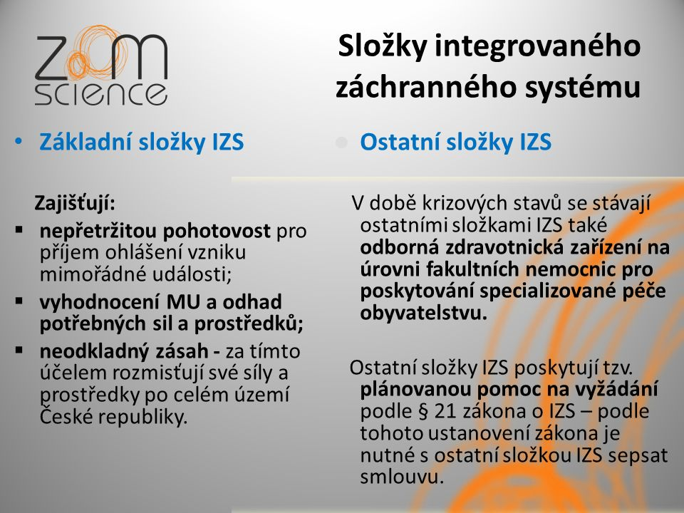 Složky integrovaného záchranného systému