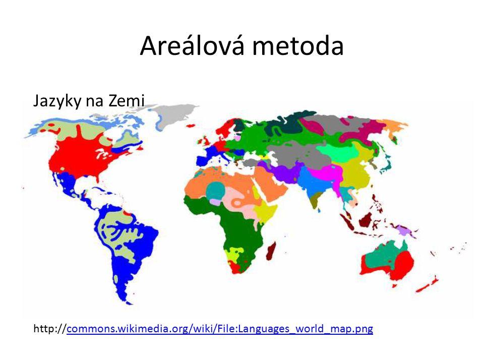 Areálová metoda Jazyky na Zemi