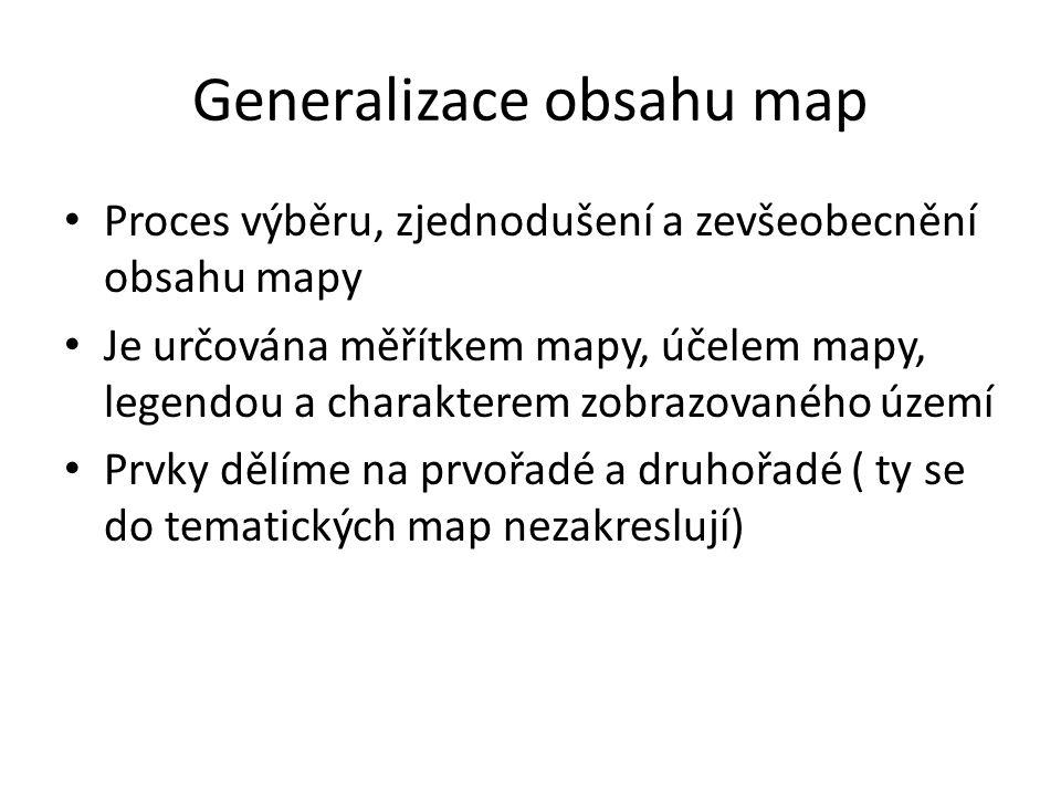 Generalizace obsahu map