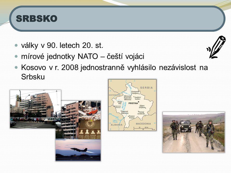 SRBSKO války v 90. letech 20. st. mírové jednotky NATO – čeští vojáci