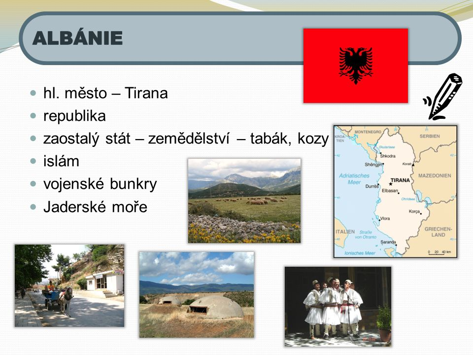 ALBÁNIE hl. město – Tirana republika