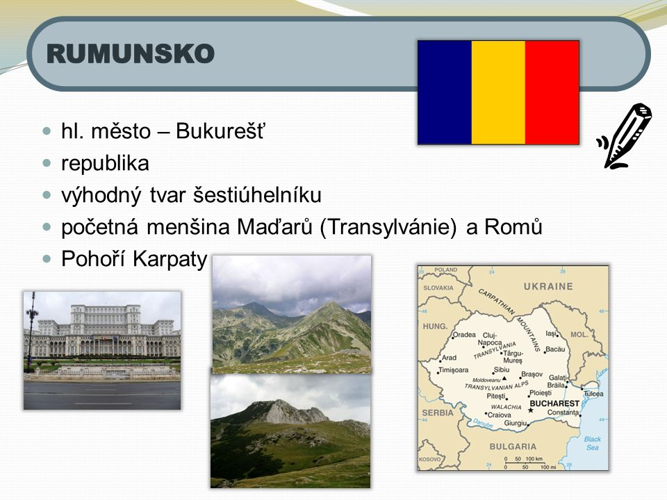 RUMUNSKO hl. město – Bukurešť republika výhodný tvar šestiúhelníku
