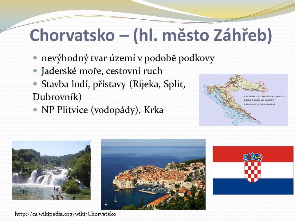 Chorvatsko – (hl. město Záhřeb)