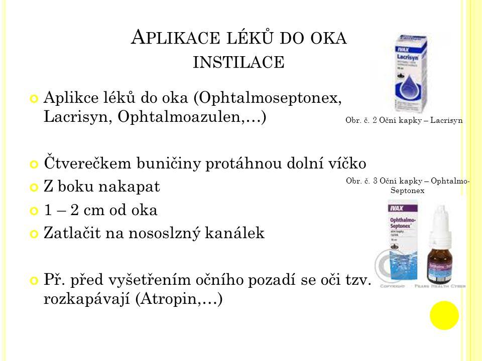 Aplikace léků do oka instilace