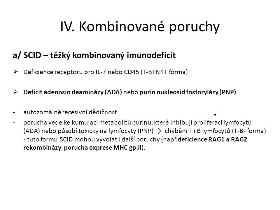 IV. Kombinované poruchy
