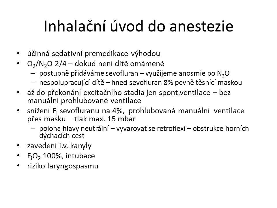 Inhalační úvod do anestezie