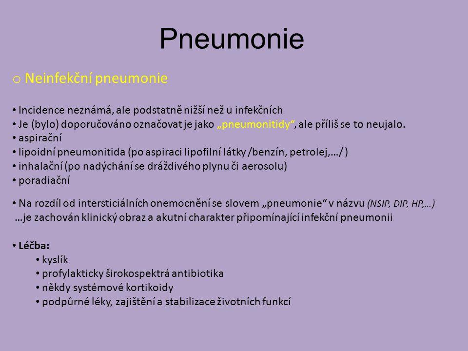 Pneumonie Neinfekční pneumonie