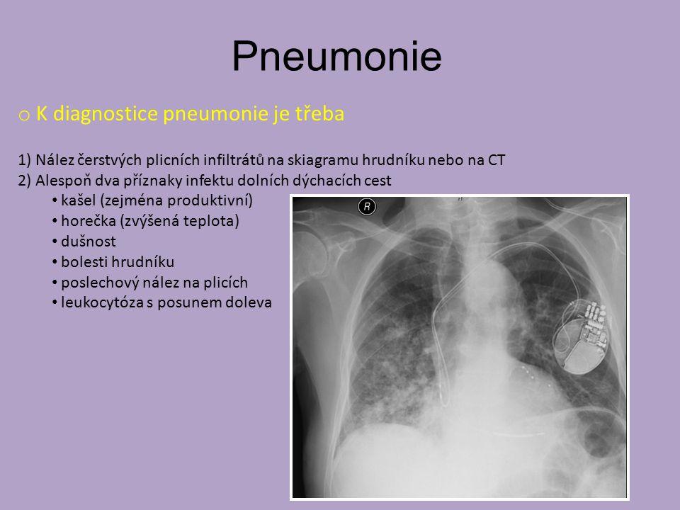 Pneumonie K diagnostice pneumonie je třeba