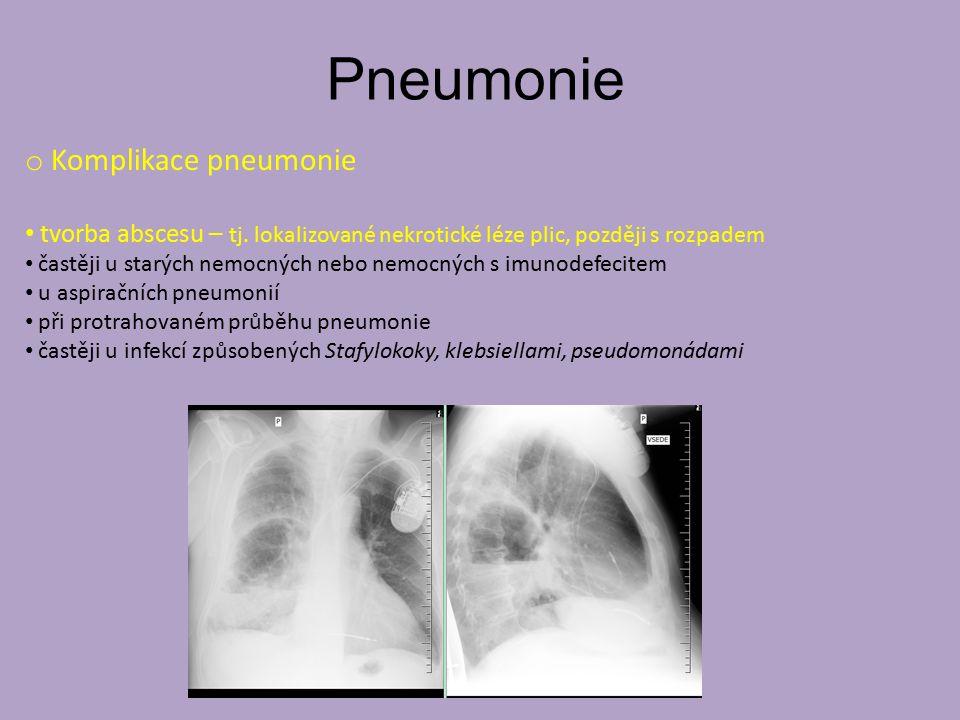 Pneumonie Komplikace pneumonie