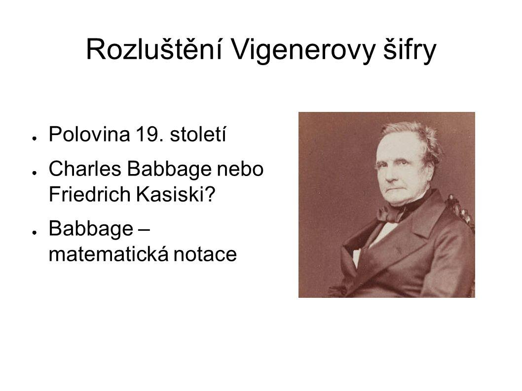 Rozluštění Vigenerovy šifry