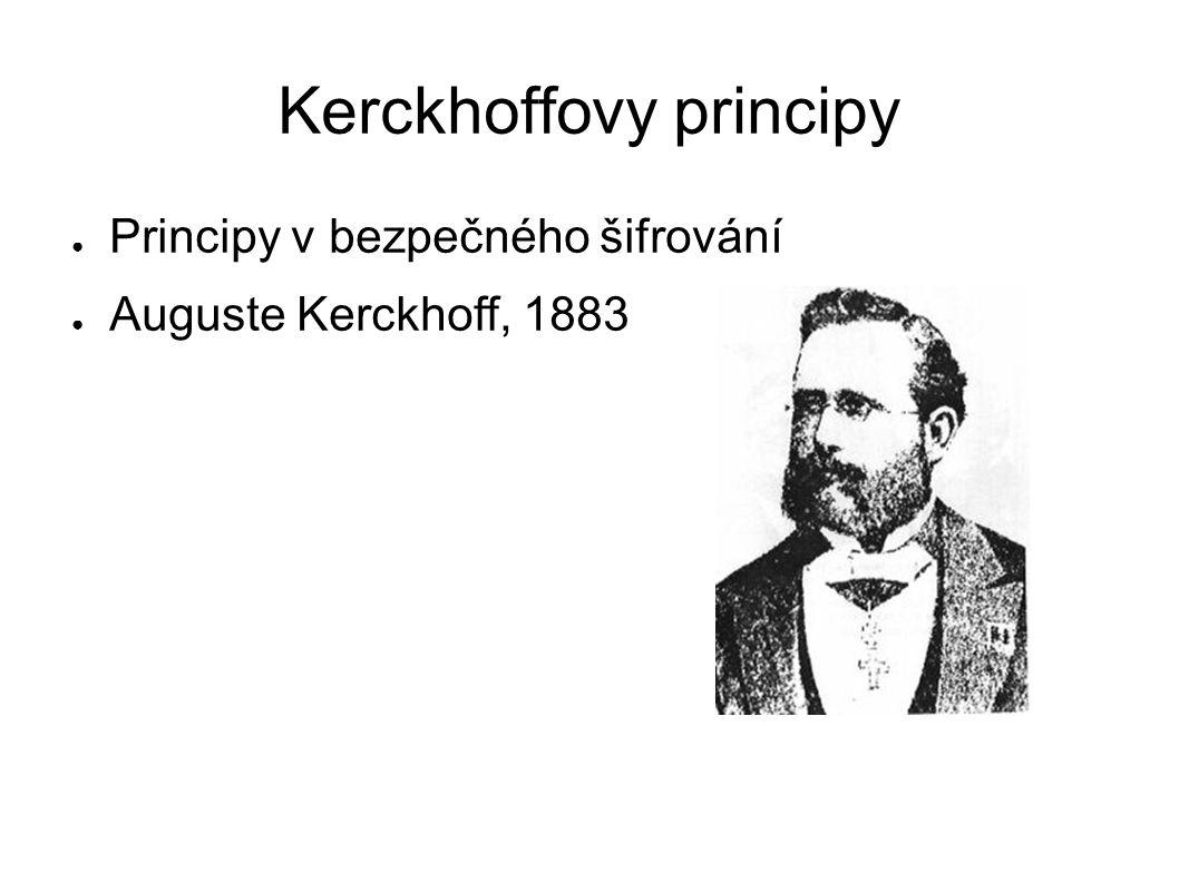 Kerckhoffovy principy