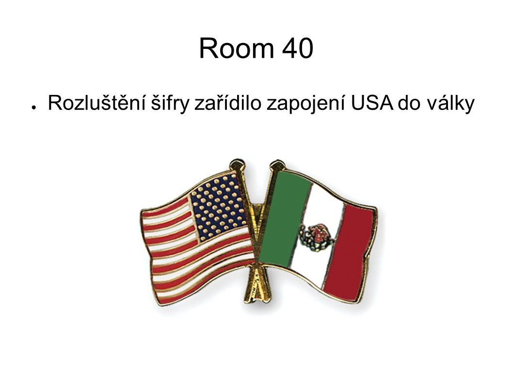 Room 40 Rozluštění šifry zařídilo zapojení USA do války