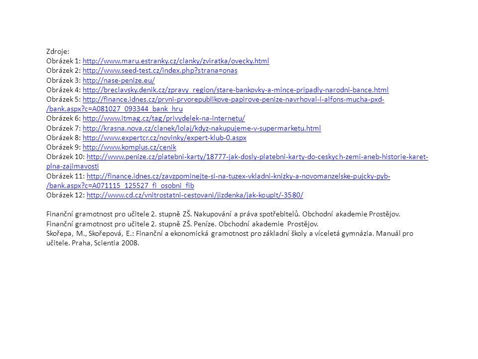 Zdroje: Obrázek 1: http://www.maru.estranky.cz/clanky/zviratka/ovecky.html. Obrázek 2: http://www.seed-test.cz/index.php strana=onas.