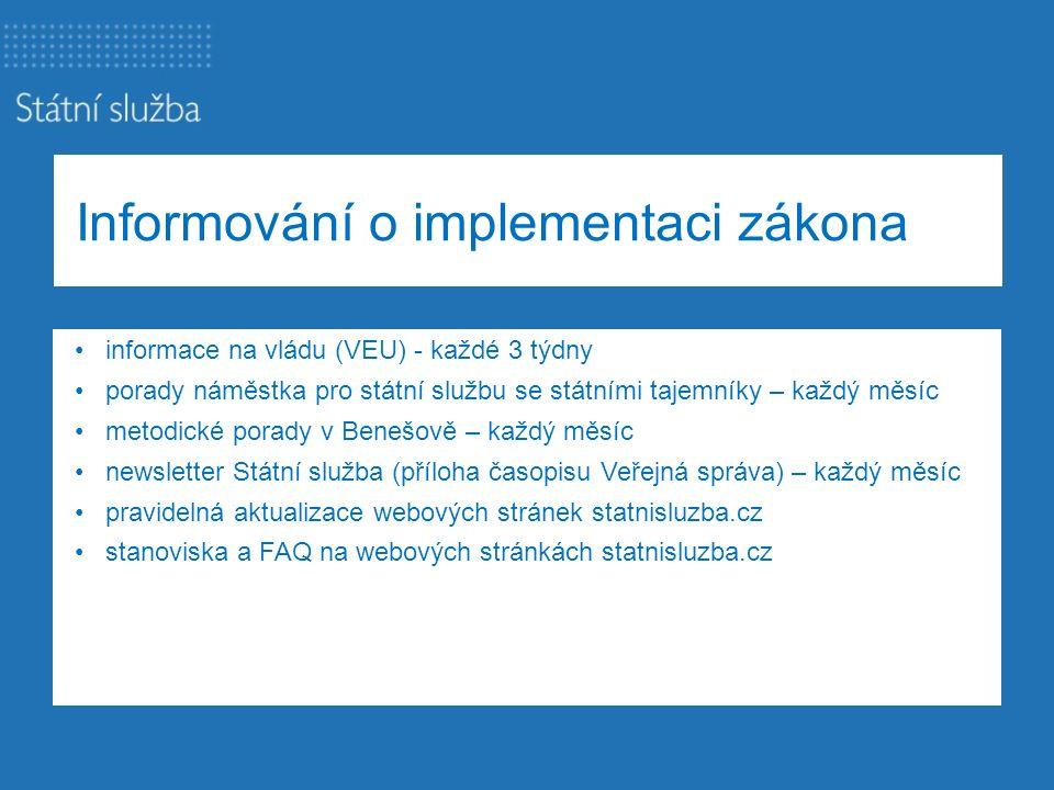 Informování o implementaci zákona