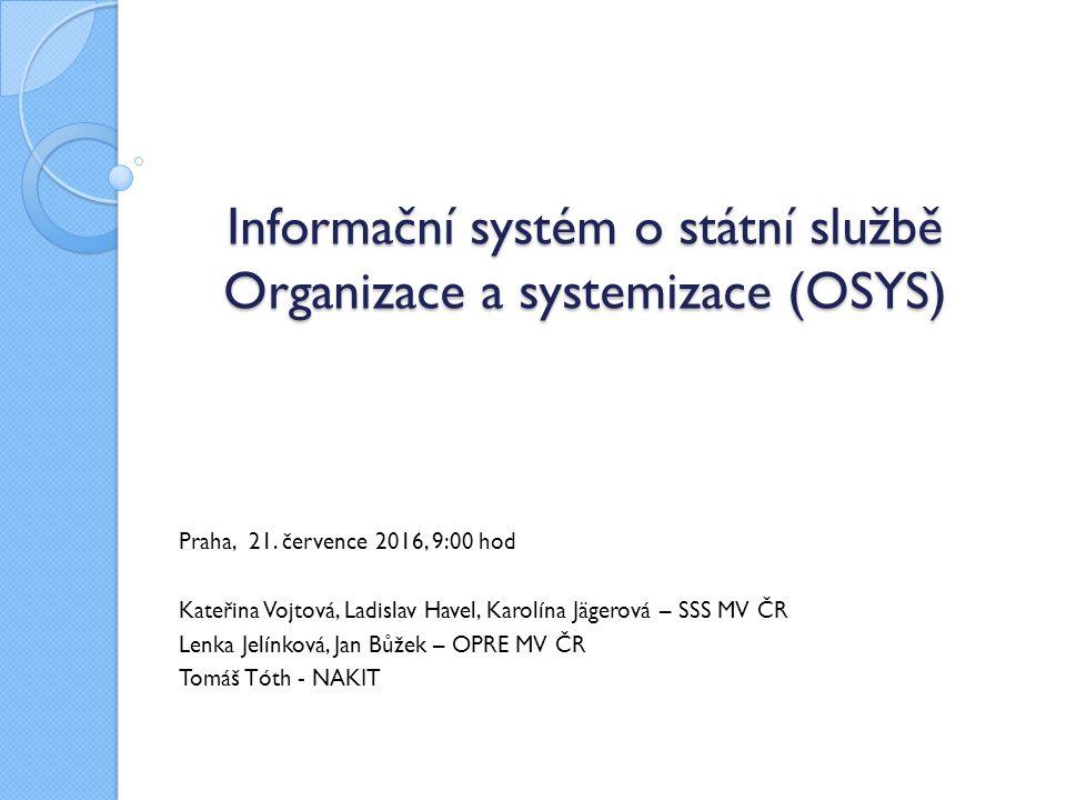 Informační systém o státní službě Organizace a systemizace (OSYS)