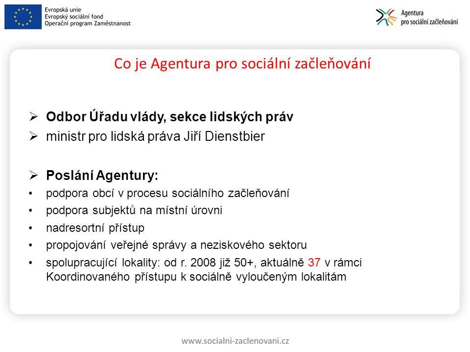 Co je Agentura pro sociální začleňování