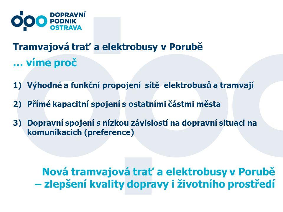 Nová tramvajová trať a elektrobusy v Porubě
