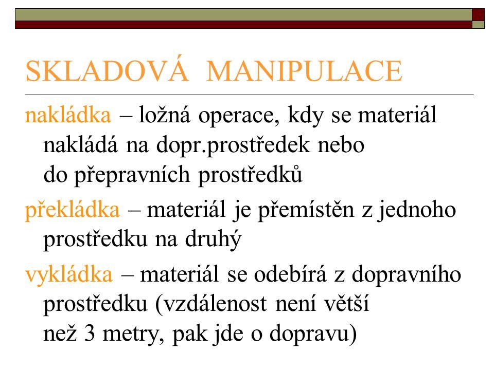 SKLADOVÁ MANIPULACE