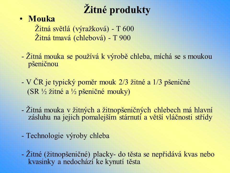 Žitné produkty Mouka Žitná světlá (výražková) - T 600