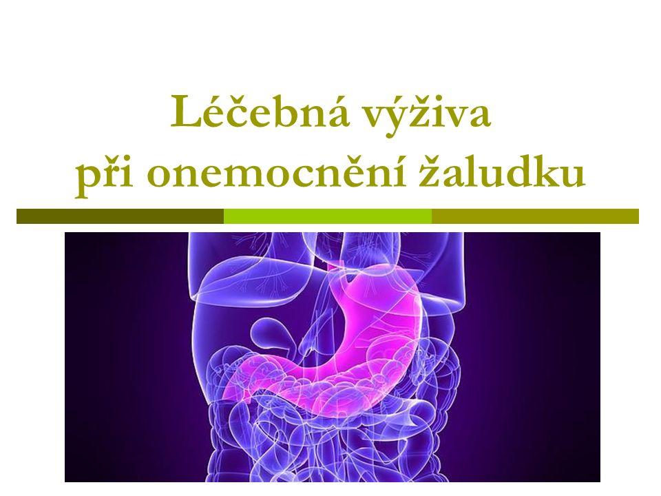 Léčebná výživa při onemocnění žaludku