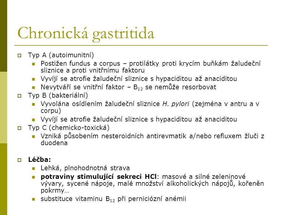 Chronická gastritida Typ A (autoimunitní)
