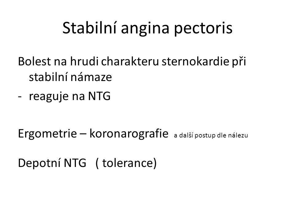 Stabilní angina pectoris