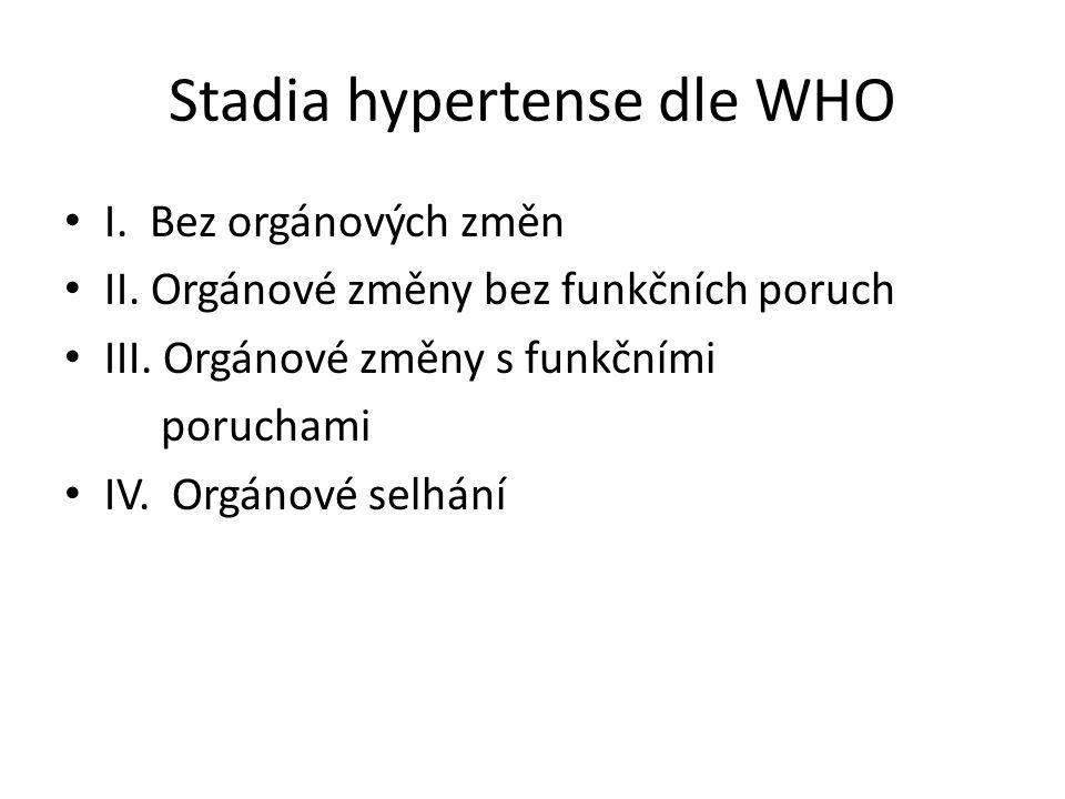 Stadia hypertense dle WHO