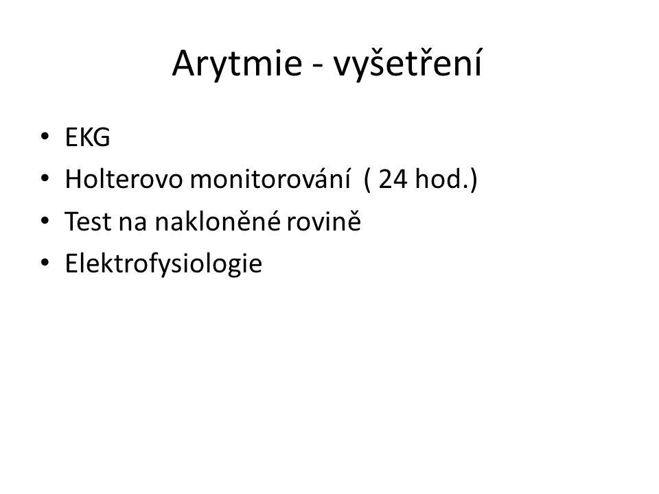 Arytmie - vyšetření EKG Holterovo monitorování ( 24 hod.)