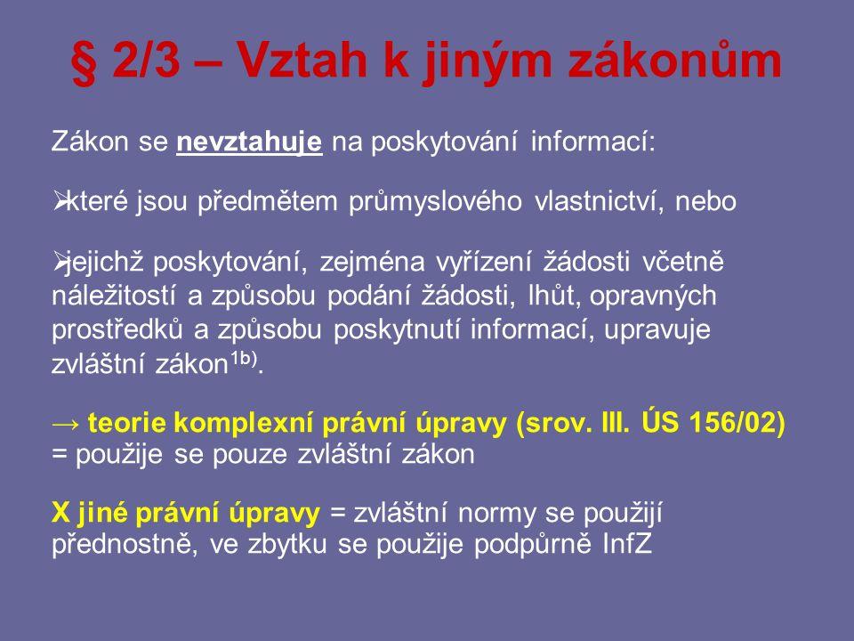 § 2/3 – Vztah k jiným zákonům