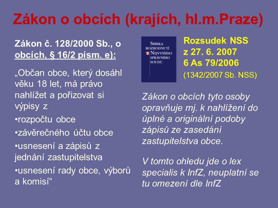 Zákon o obcích (krajích, hl.m.Praze)