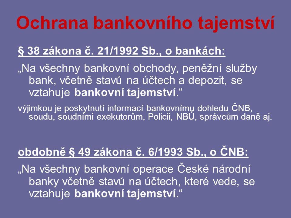 Ochrana bankovního tajemství
