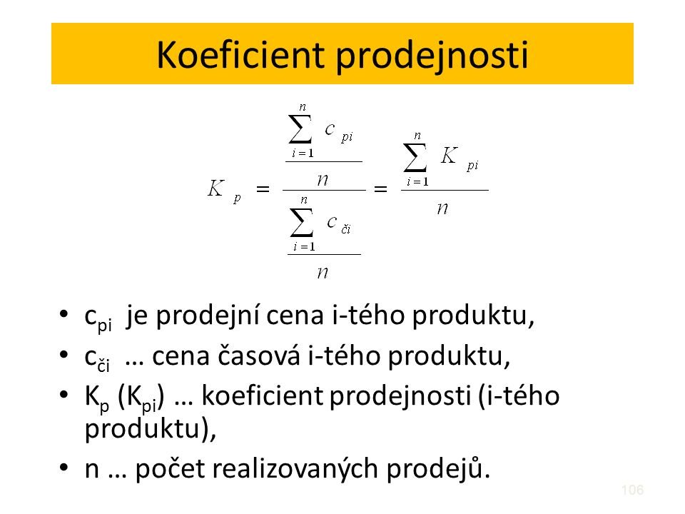 Koeficient prodejnosti