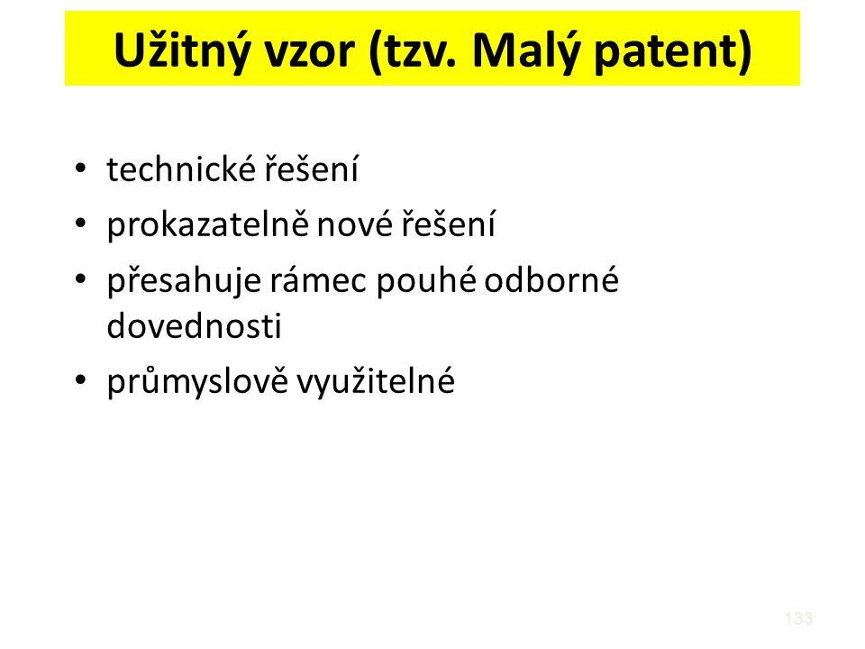 Užitný vzor (tzv. Malý patent)