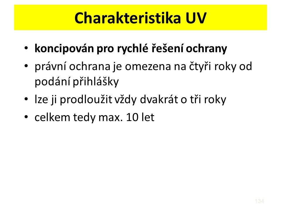Charakteristika UV koncipován pro rychlé řešení ochrany