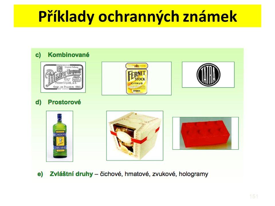 Příklady ochranných známek