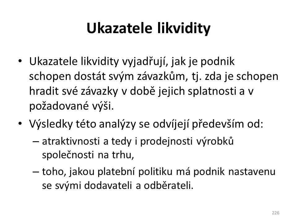 Ukazatele likvidity