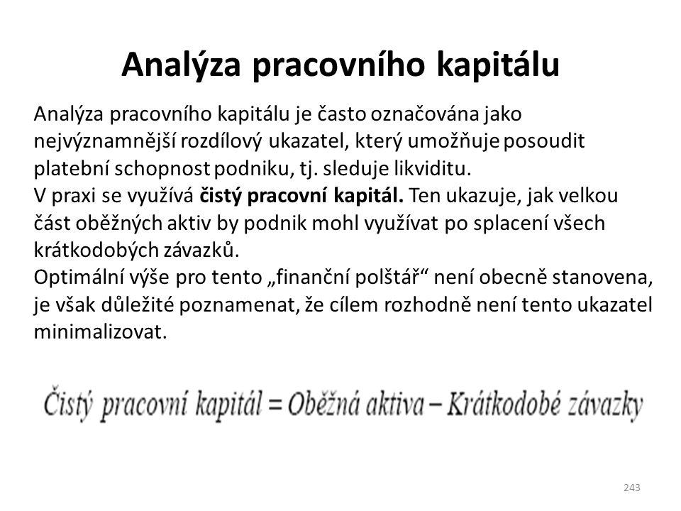 Analýza pracovního kapitálu