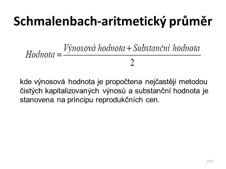 Schmalenbach-aritmetický průměr