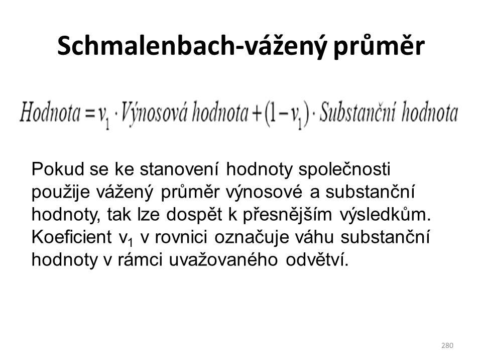 Schmalenbach-vážený průměr