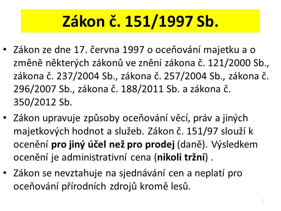 Zákon č. 151/1997 Sb.
