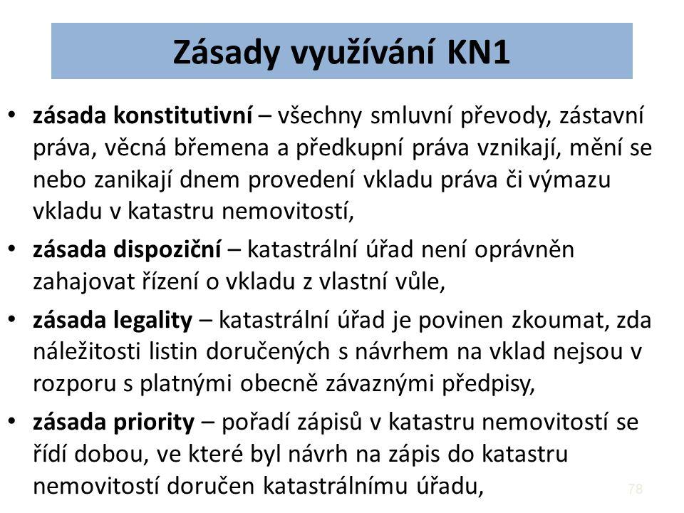 Zásady využívání KN1