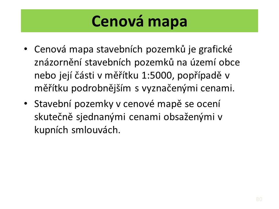 Cenová mapa