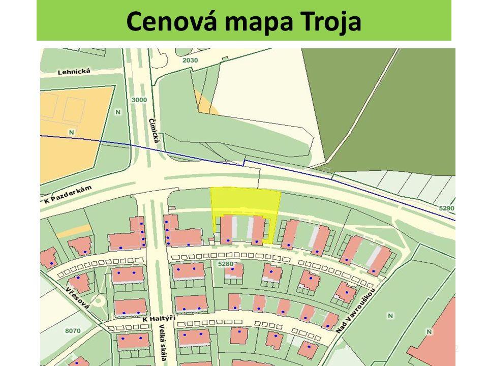Cenová mapa Troja