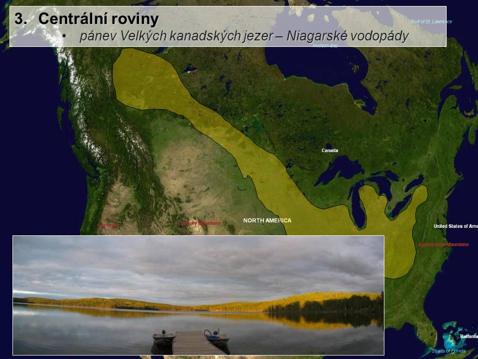 Centrální roviny pánev Velkých kanadských jezer – Niagarské vodopády