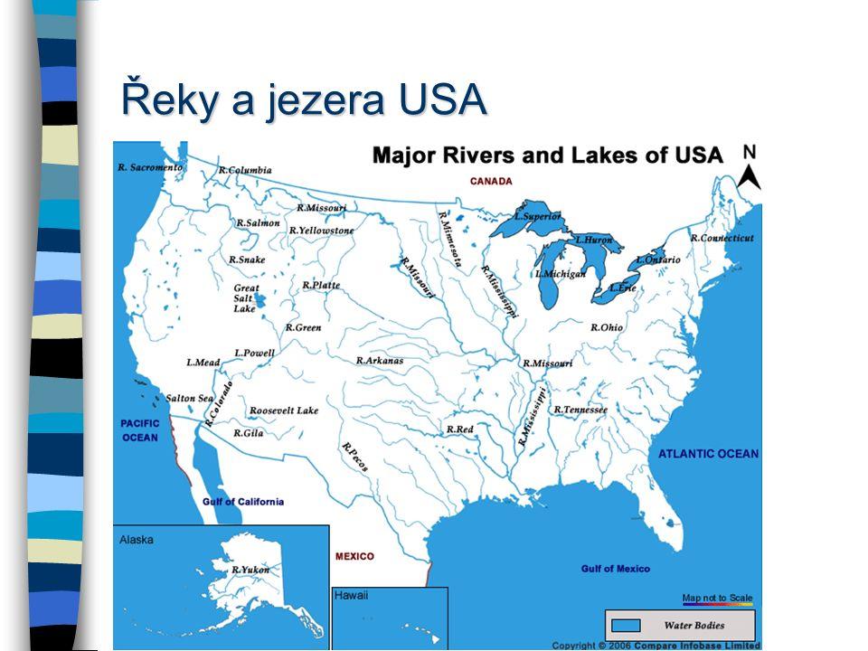 Řeky a jezera USA