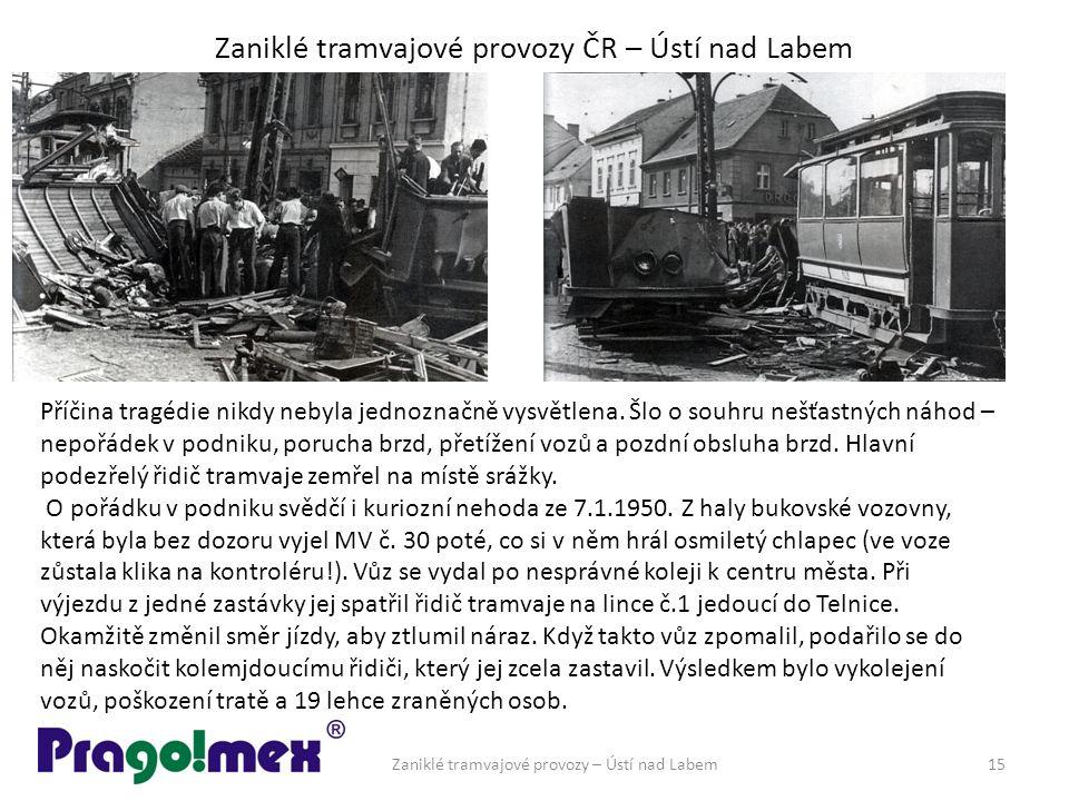 Zaniklé tramvajové provozy ČR – Ústí nad Labem