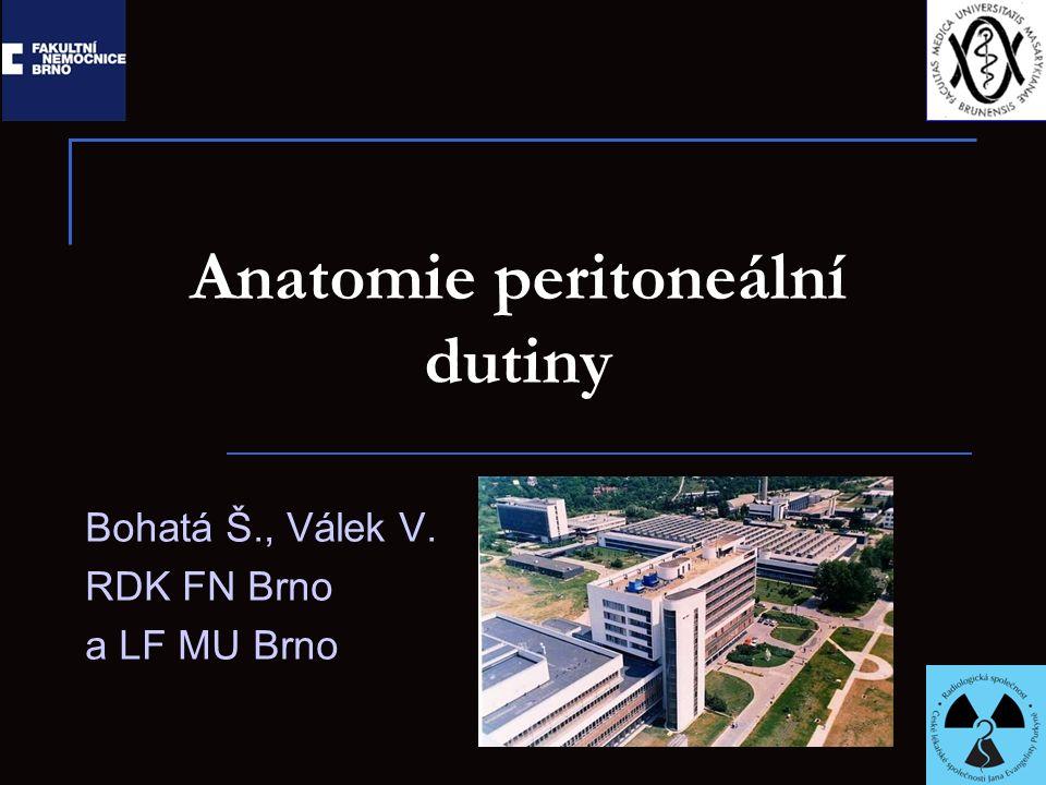 Anatomie peritoneální dutiny