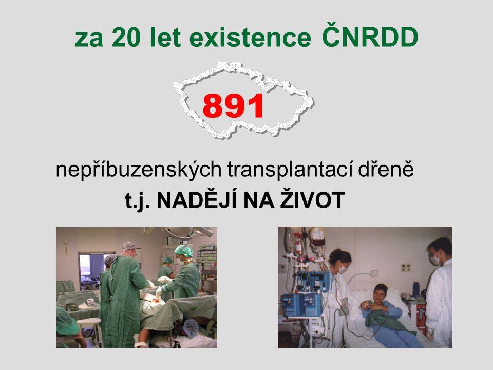 nepříbuzenských transplantací dřeně